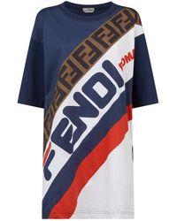 c173f1cc8b8b6 Fendi - Logo Colour-block T-shirt - Lyst