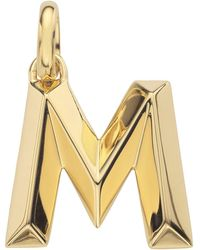 Monica Vinader - Gold Capital M Pendant - Lyst