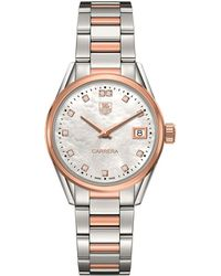 Tag Heuer - Carrera Mother-of-pearl 32mm Watch - Lyst