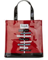 Harrods - Small Sign Posts Shopper Bag - Lyst