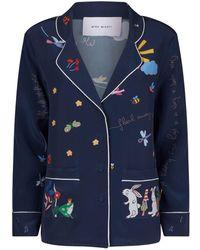 Mira Mikati - Printed Silk Pyjama Shirt - Lyst