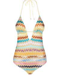 Missoni - Crochet-knit Zigzag Swimsuit - Lyst