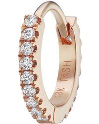 Maria Tash - 6.5mm Rose Gold And Diamond Eternity Ring - Lyst