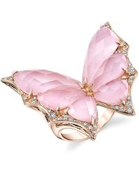 Stephen Webster - Rose Gold And Diamond Fly By Night Crystal Haze Ring - Lyst