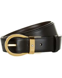Montblanc - Reversible Gold Buckle Belt - Lyst