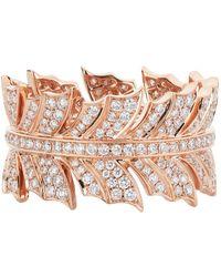 Stephen Webster | Rose Gold Magnipheasant Pav Diamond Ring | Lyst