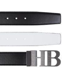BOSS Green - Reversible Contrast Leather Belt - Lyst