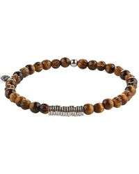 Tateossian Tigers Eye Bracelet - Brown