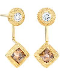 De Beers - Yellow Gold Talisman Drop Earrings - Lyst