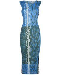 Pleats Please Issey Miyake - Printed Midi Dress - Lyst