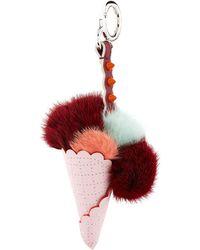 Fendi - Fox Fur Ice Cream Charm - Lyst