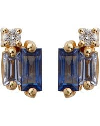 Suzanne Kalan - White Gold Diamond And Sapphire Rainbow Fireworks Earrings - Lyst