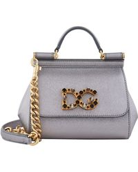 b4d1d2e810 Lyst - Dolce   Gabbana Small Leather Sicily Shoulder Bag