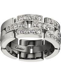 Cartier - Pav Diamond Maillon Panthre Ring - Lyst