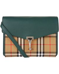 22844afd2bdb Lyst - Burberry Small Buckle Leather And House Check Shoulder Bag in ...