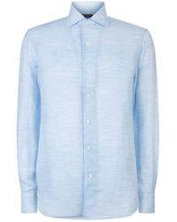 Corneliani - Washed Linen-cotton Shirt - Lyst