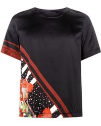 Meng - Silk Floral Print Pyjama Top - Lyst
