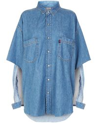 Vetements - Oversized Denim Shirt - Lyst