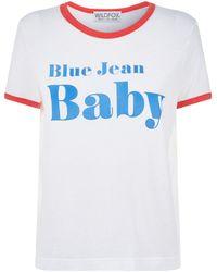 Wildfox - Blue Jeans T-shirt - Lyst