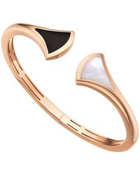 BVLGARI - Rose Gold Onyx And Mother-of-pearl Divas' Dream Cuff Bracelet - Lyst