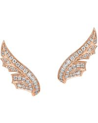 Stephen Webster - Rose Gold And Pav Diamond Magnipheasant Stud Earrings, One Size - Lyst