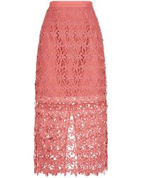 Keepsake - Stay Close Lace Pencil Skirt - Lyst