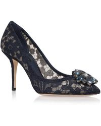 Dolce & Gabbana - Rosa Embellished Lace Court Shoes 90 - Lyst