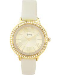 Harrods - Gold Crystal Watch - Lyst