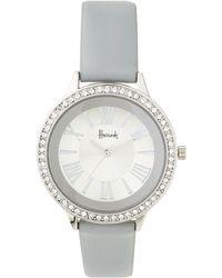 Harrods - Grey Silver Crystal Watch - Lyst