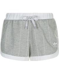 adidas Originals - Pinstripe Detail Shorts - Lyst