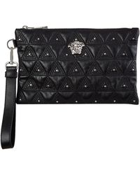 Versace - Leather Pouch Bag - Lyst