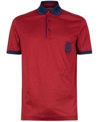 Zilli - Contrast Collar Polo Shirt - Lyst
