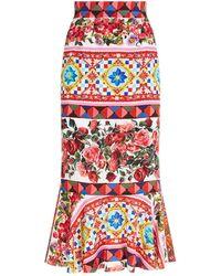 Dolce & Gabbana - Mambo Flared Maxi Skirt - Lyst