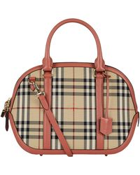 eab3a8fa7d4 Burberry - Small Orchard Horseferry Check Bowling Bag - Lyst