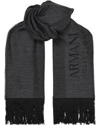 Armani - Lightweight Wool Scarf - Lyst
