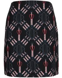 Valentino - Love Blades Mini Skirt - Lyst