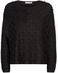 Eileen Fisher - Fringed Squares Sweater - Lyst