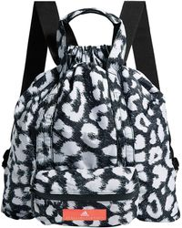 Lyst - adidas By Stella McCartney Borsa zaino Palestra Stampa Zebra ... 781b55e8c02de