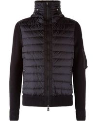 Moncler - Quilted Front Cardigan - Lyst