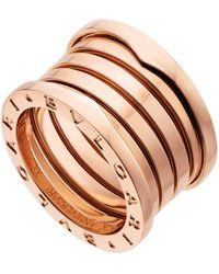 BVLGARI - Rose Gold B.zero1 20th Anniversary Ring - Lyst