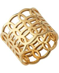 Links of London - Yellow Gold Vermeil Ovals Band Ring - Lyst