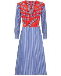 Sandro - Printed Wrap Dress - Lyst