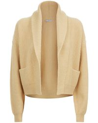 Vince - Cropped Ribbed Cardigan - Lyst