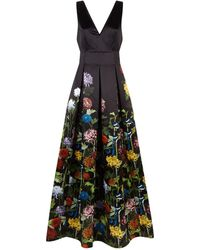 Alice + Olivia - Chantal Floral Plunge Gown - Lyst