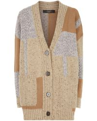 Weekend by Maxmara - Patchwork Knitted Cardigan - Lyst