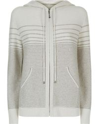 St. John - Knitted Sequin Hoodie - Lyst