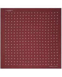 Turnbull & Asser - Polka Dot Pocket Square - Lyst