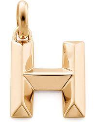 Monica Vinader - Gold Capital H Pendant - Lyst