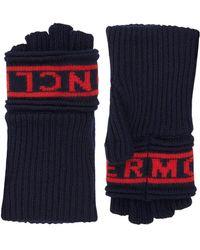Moncler - Logo Knitted Gloves - Lyst