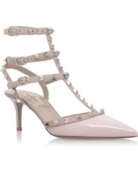 Valentino - Patent Rockstud Pumps 65, Pink, It 38.5 - Lyst